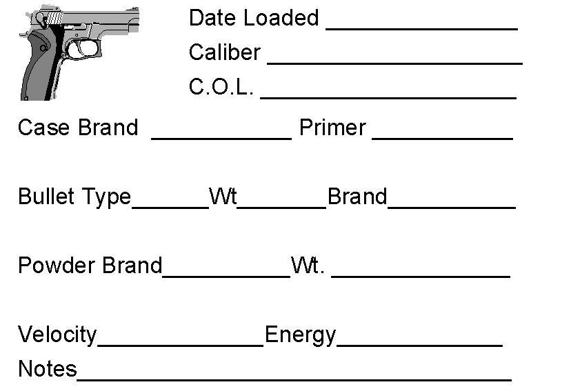 reloading labels - gear