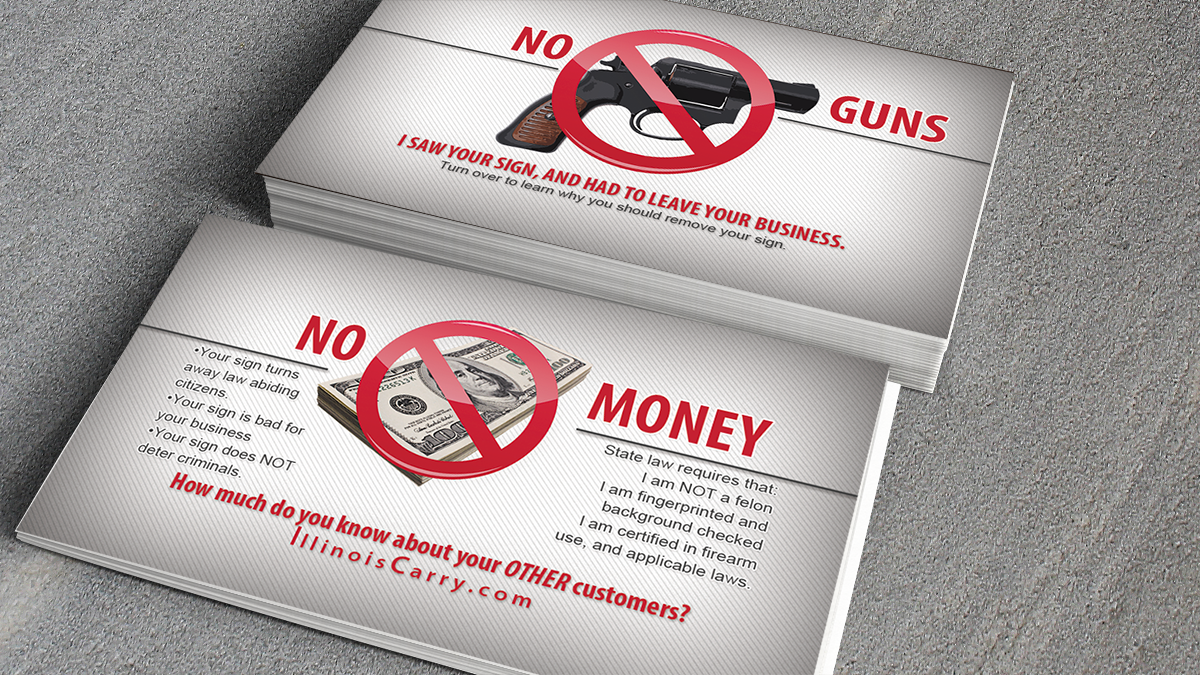 IllinoisCarry No Guns No Money cards - Illinois Right to Carry ...