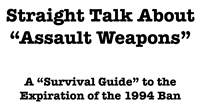 Straight Talk About Assault Weapons